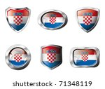 croatia set shiny buttons and...