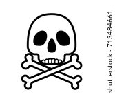 skull with crossbones caution... | Shutterstock .eps vector #713484661