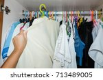 Woman Hand Choosing Cloth In...
