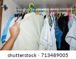 Woman Hand Choosing Cloth In...