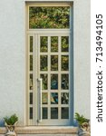 beautiful entrance doors to the ...   Shutterstock . vector #713494105