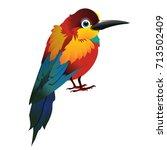 cute animated bird isolated on... | Shutterstock .eps vector #713502409