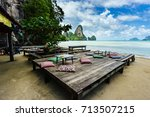 beautiful place to relax and... | Shutterstock . vector #713507215
