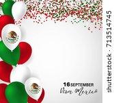 viva mexico  traditional... | Shutterstock .eps vector #713514745