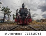 a stream locomotive | Shutterstock . vector #713515765
