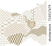 japanese pattern vector. gold... | Shutterstock .eps vector #713517679