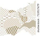 japanese pattern vector. gold... | Shutterstock .eps vector #713517679