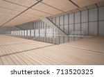 abstract  concrete and wood...   Shutterstock . vector #713520325