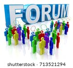 forum group discussion in the...   Shutterstock . vector #713521294