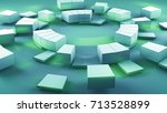 concentric segmented circles.... | Shutterstock . vector #713528899