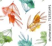 autumn leaves seamless pattern. ...   Shutterstock . vector #713531491