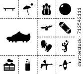 recreation icon. set of 13...   Shutterstock .eps vector #713542111