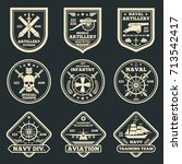 vintage military and army... | Shutterstock .eps vector #713542417