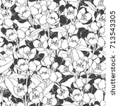 seamless pattern with... | Shutterstock .eps vector #713543305