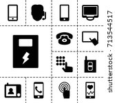 phone icon. set of 13 filled... | Shutterstock .eps vector #713544517