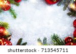 christmas holiday background | Shutterstock . vector #713545711