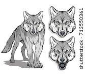 wolf logo | Shutterstock .eps vector #713550361