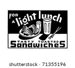 for a light lunch 2   retro ad... | Shutterstock .eps vector #71355196
