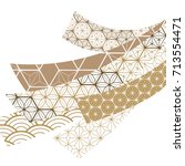 japanese pattern vector on... | Shutterstock .eps vector #713554471