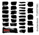 artistic textured ink brushes.... | Shutterstock .eps vector #713557081