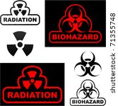 biohazard and radiation signs.... | Shutterstock .eps vector #71355748