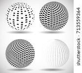 halftone dots in circle form.... | Shutterstock .eps vector #713559364