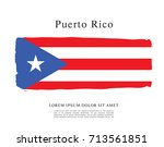 flag of puerto rico | Shutterstock .eps vector #713561851