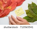 "a woman's hand moving a note ""i ... 