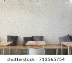 brick white wall  background. | Shutterstock . vector #713565754