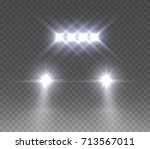 led bar offroad effect front... | Shutterstock .eps vector #713567011