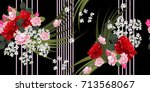 seamless vintage pattern with... | Shutterstock .eps vector #713568067