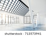clean concrete interior with... | Shutterstock . vector #713573941