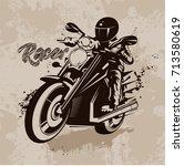 vector illustration racer on... | Shutterstock .eps vector #713580619