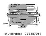 Pianoforte And Piano Chair...