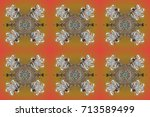 isolated of raster snowflake.... | Shutterstock . vector #713589499