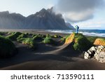 photographer taking photo of... | Shutterstock . vector #713590111