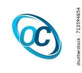 letter oc logotype design for... | Shutterstock .eps vector #713594854