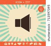 volume icon | Shutterstock .eps vector #713597395