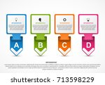 abstract options infographics... | Shutterstock .eps vector #713598229