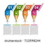 infographics template with...   Shutterstock .eps vector #713598244