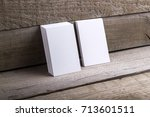 photo of business cards....   Shutterstock . vector #713601511