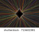 abstract big data element with... | Shutterstock .eps vector #713602381