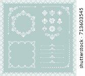 vintage set of vector... | Shutterstock .eps vector #713603545