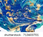 marbled abstract background.... | Shutterstock . vector #713603701