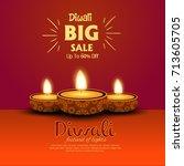 diwali festival offer poster... | Shutterstock .eps vector #713605705