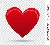 red heart | Shutterstock .eps vector #713607604