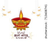 vector illustration or greeting ... | Shutterstock .eps vector #713608741