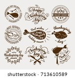 set of labels design template... | Shutterstock . vector #713610589