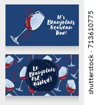 two posters for beaujolais... | Shutterstock .eps vector #713610775