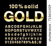 golden alphabet  fat golden... | Shutterstock .eps vector #713611429